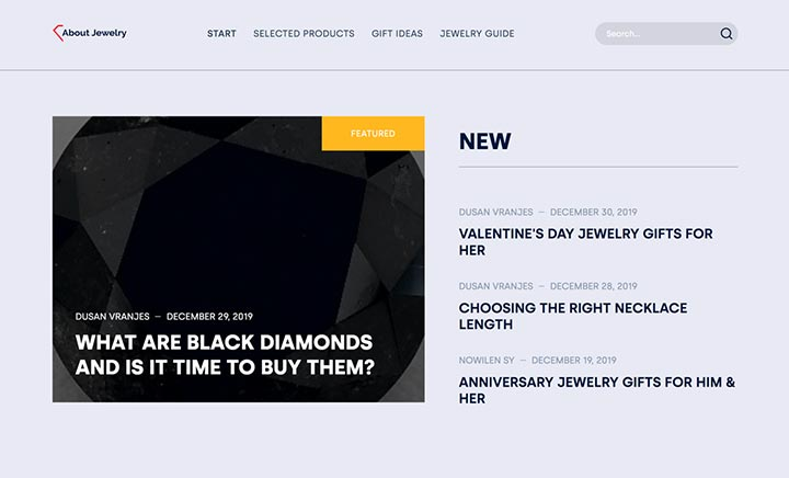About Jewelry website