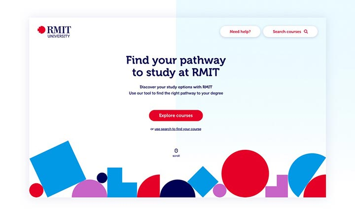 RMIT Pathways website