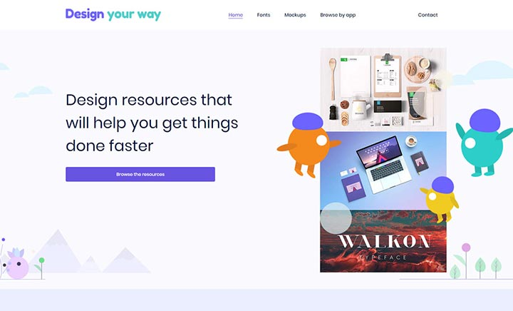 Design Your Way website