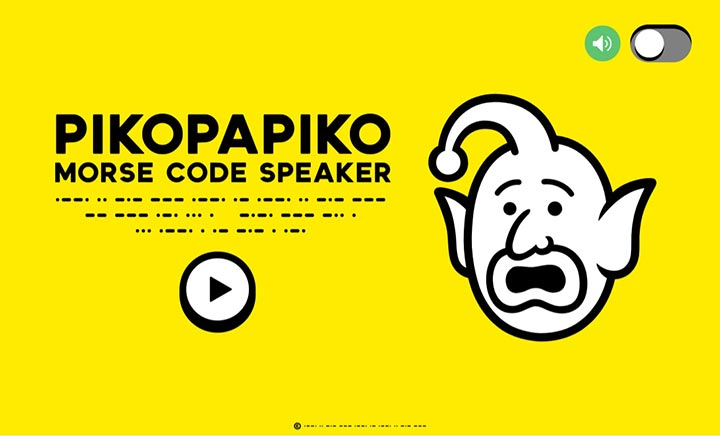 PIKOPAPIKO Morse Code Speaker website