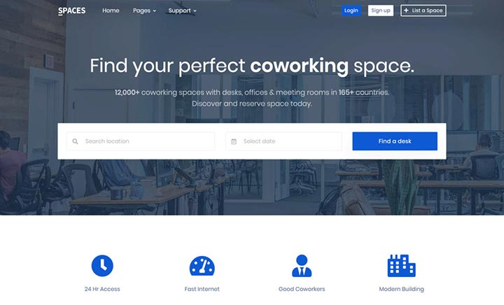 Spaces website