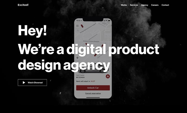 Excited agency website