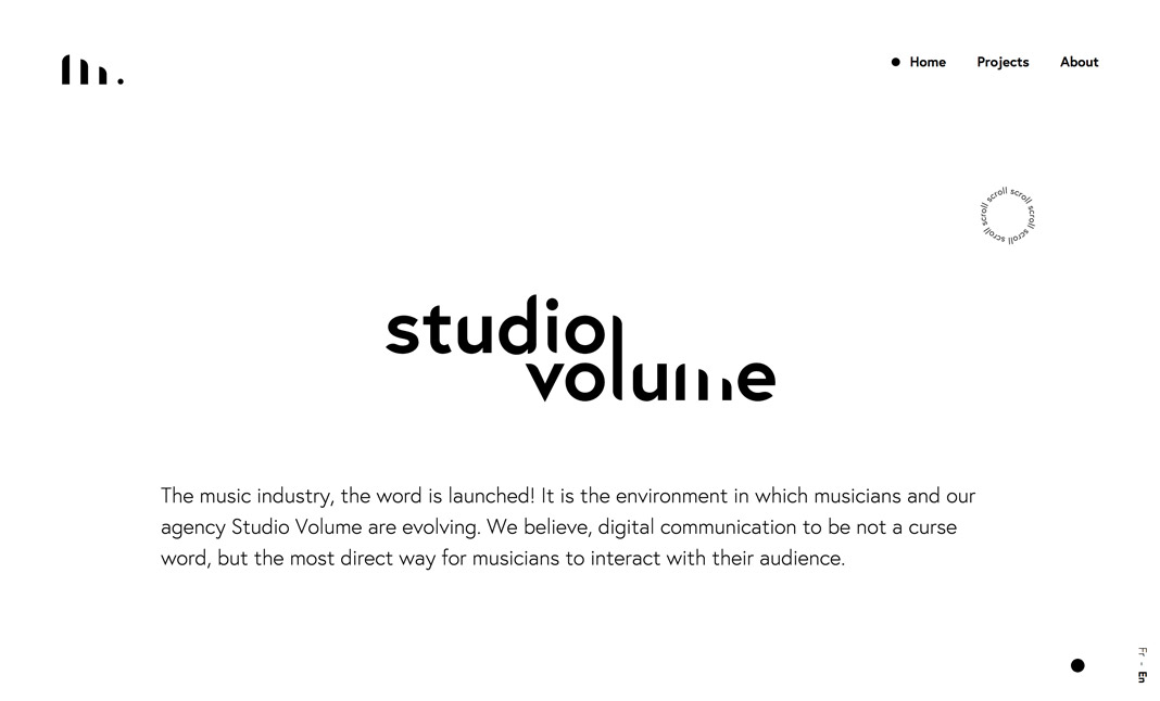 Studio Volume website