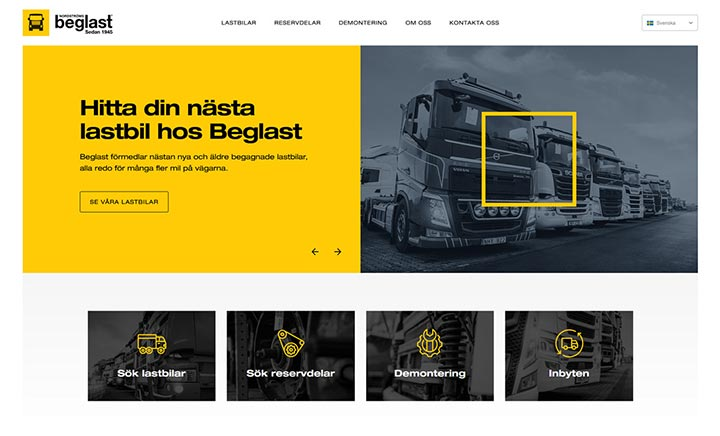 Beglast website