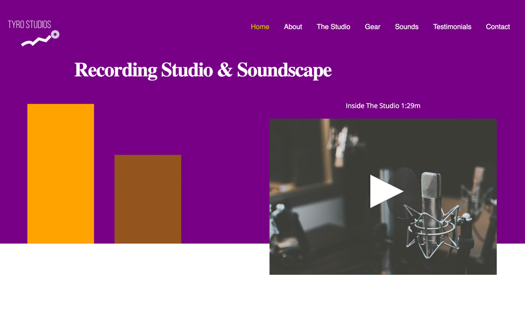 Recording Studio website