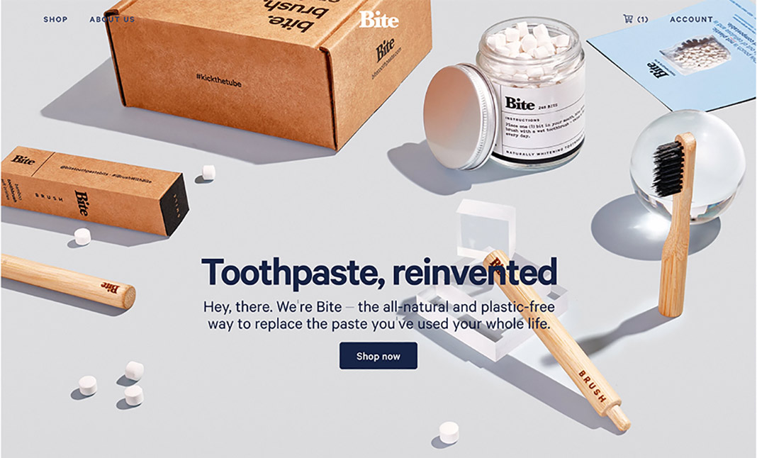 Bite Toothpaste Bits website