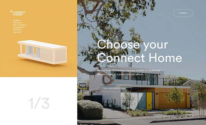 Connect Homes website