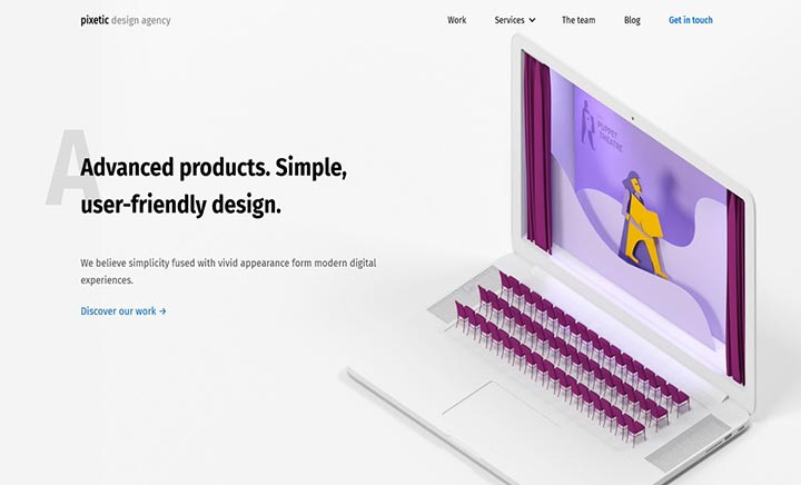 Pixetic Web Design Agency  website