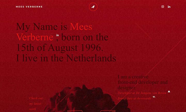 Mees Verberne - Creative website