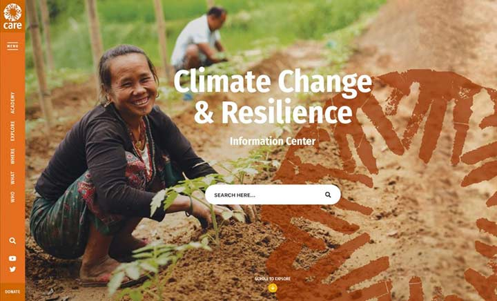 CARE Climate Change & Resilience website