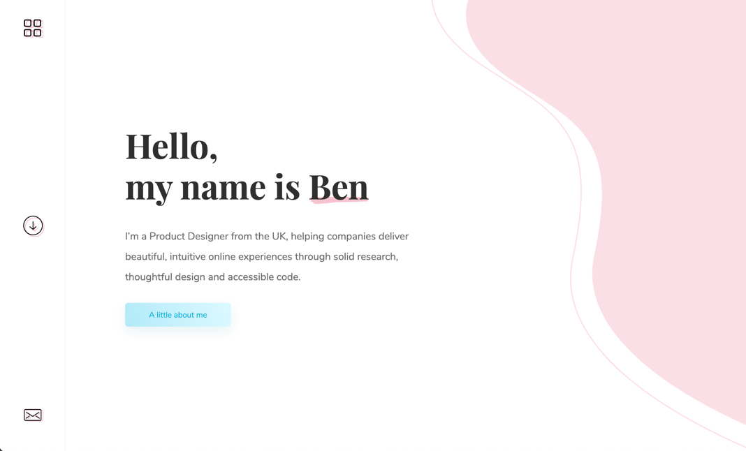Ben Darby - Freelance designer  website