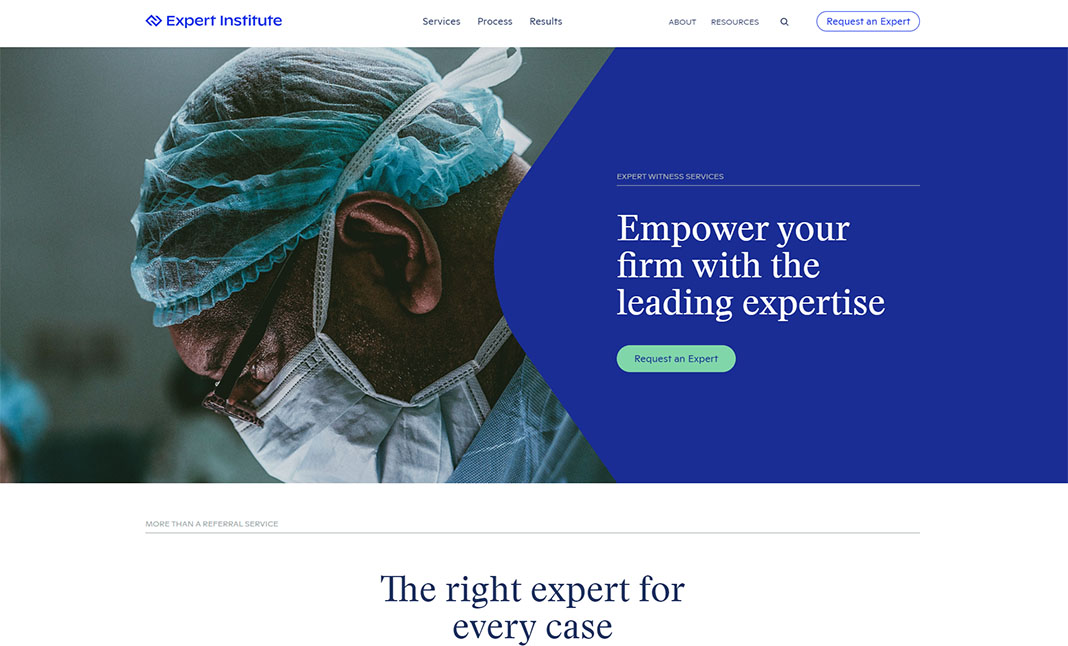 Expert Institute website