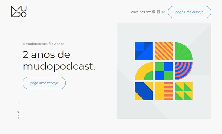 Mudo Podcast 2 Anos website