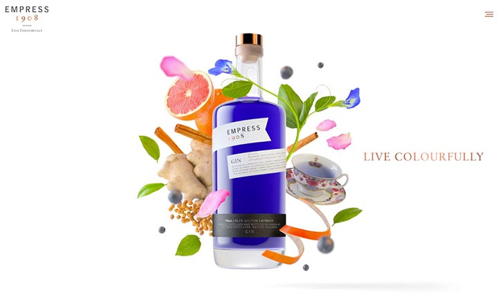 Empress Gin website