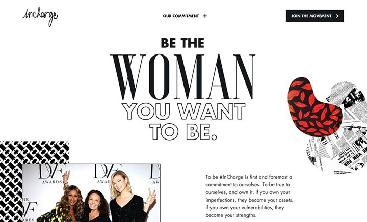 InCharge by DVF website