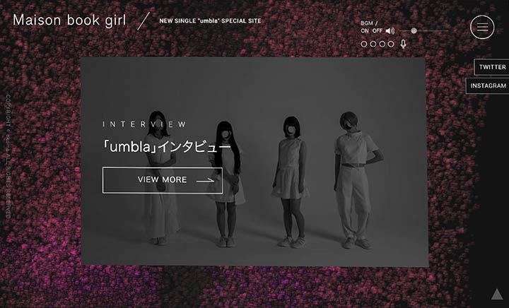 Maison book girl 'umbla' website