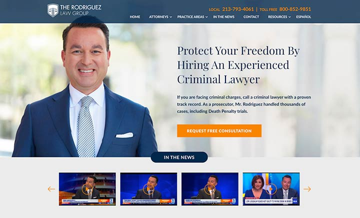 The Rodriguez Law Group website