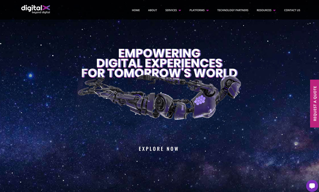 Digital X Dubai website