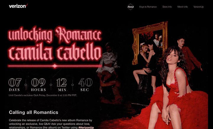Unlocking Romance Microsite website