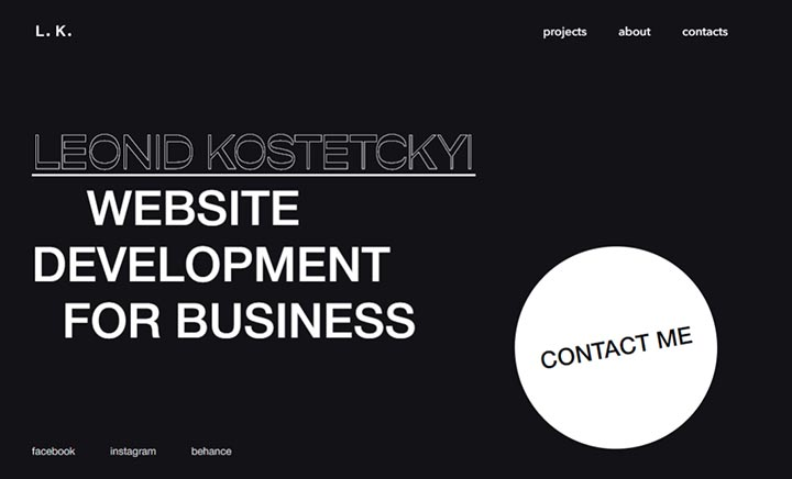 Leonid Kostetskyi website