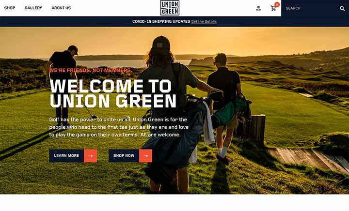 Union Green website