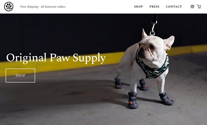 Original Paw Supply website