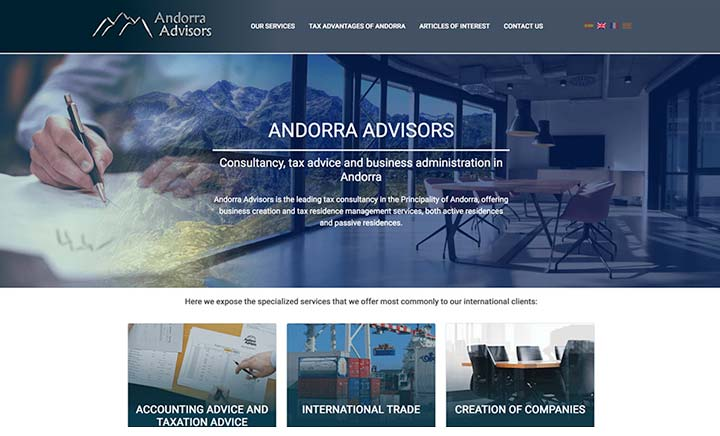 Andorra Advisors website