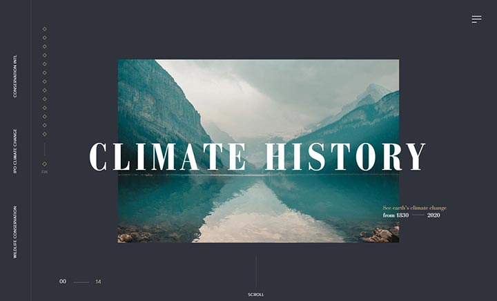 Climate History website