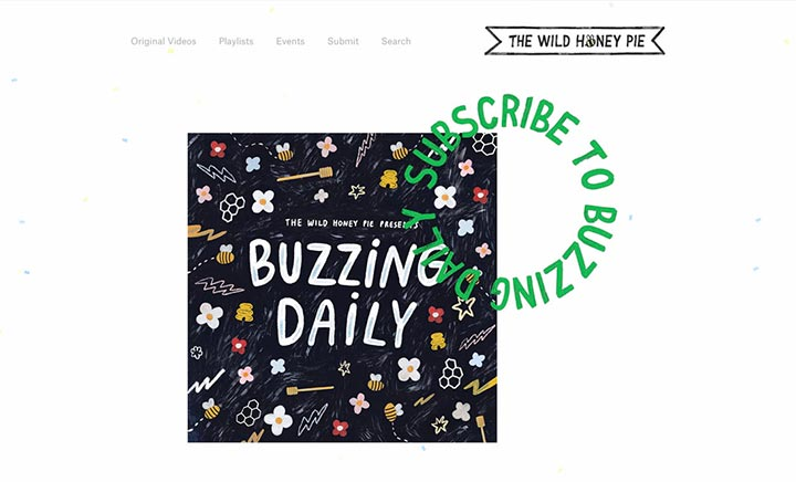 The Wild Honey Pie website