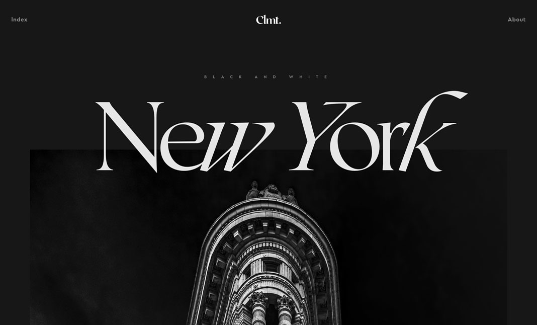 Clmt. — Photography website