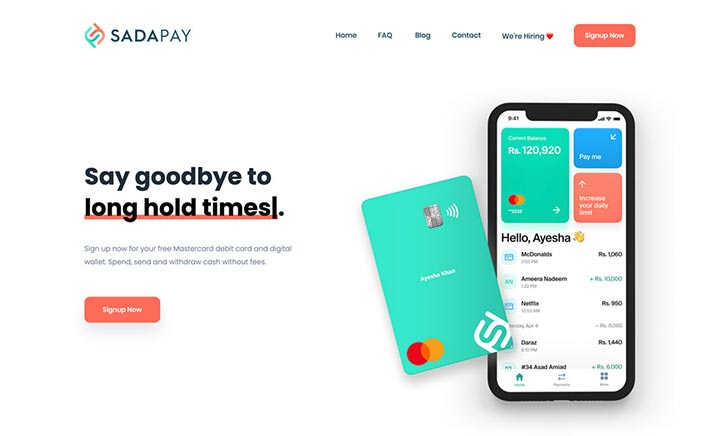 SadaPay website