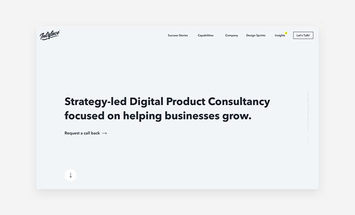 Intrface - Product Consultancy website