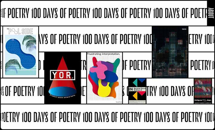 100 DAYS OF POETRY website