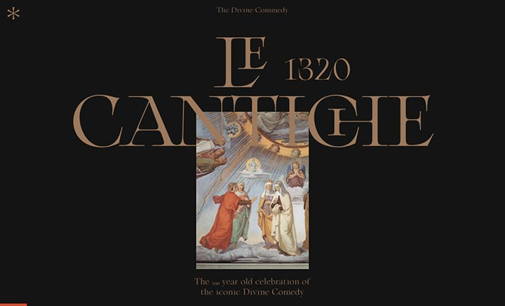 Le Cantiche 1320 website