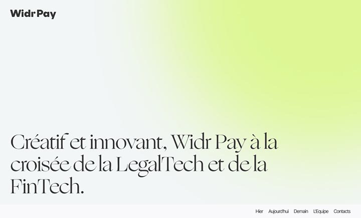Widr Pay Project website