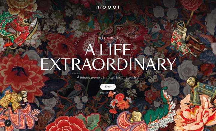 Moooi - A Life Extraordinary website