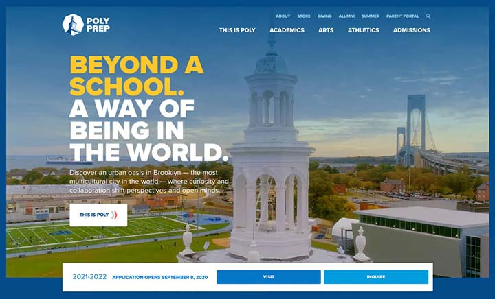 Poly Prep website