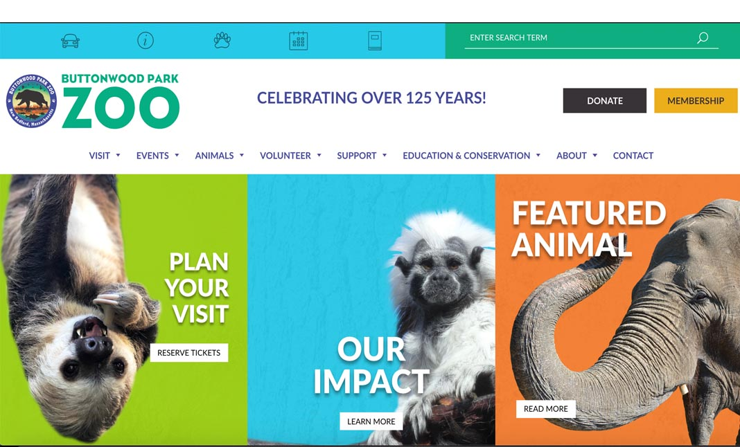 The Buttonwood Park Zoo website