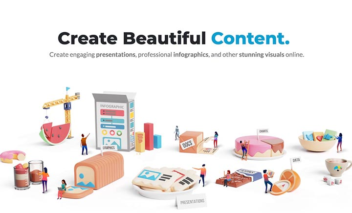 Visme - Create Amazing Content website