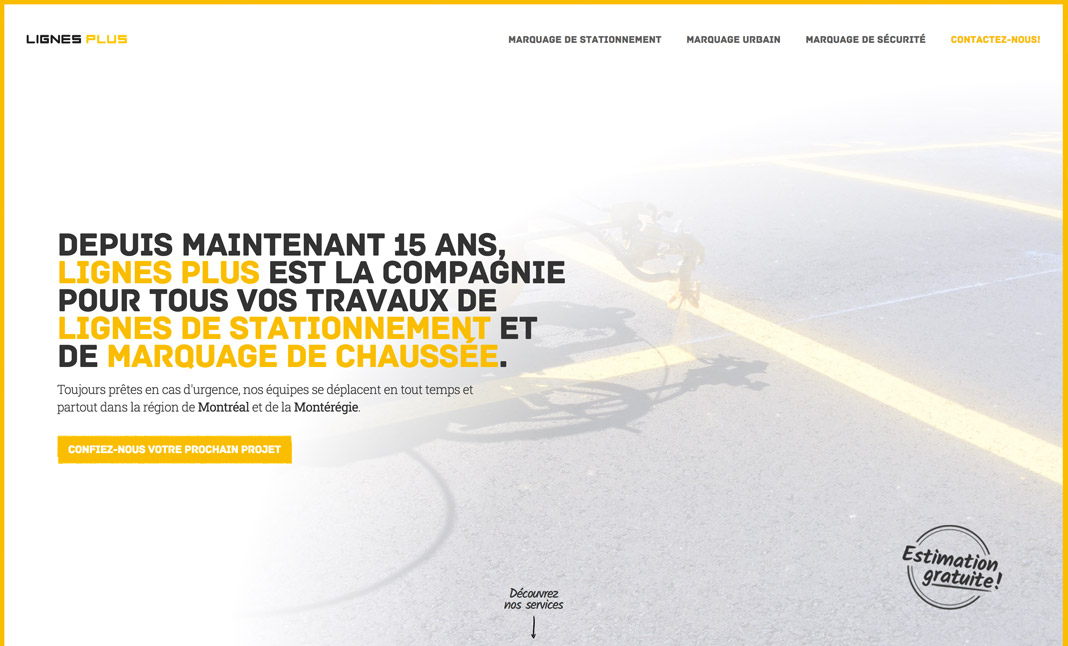 Lignes Plus website