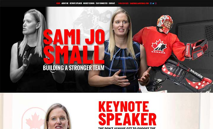 Olympic and World Champion Sami Jo Small website
