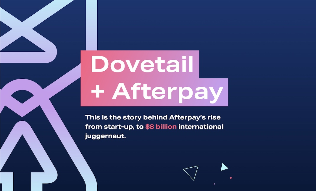 Dovetail + Afterpay website