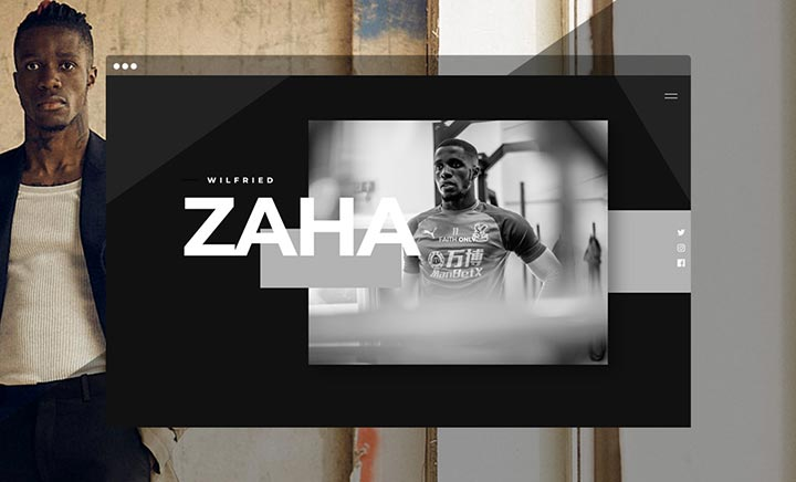 Wilfried Zaha website
