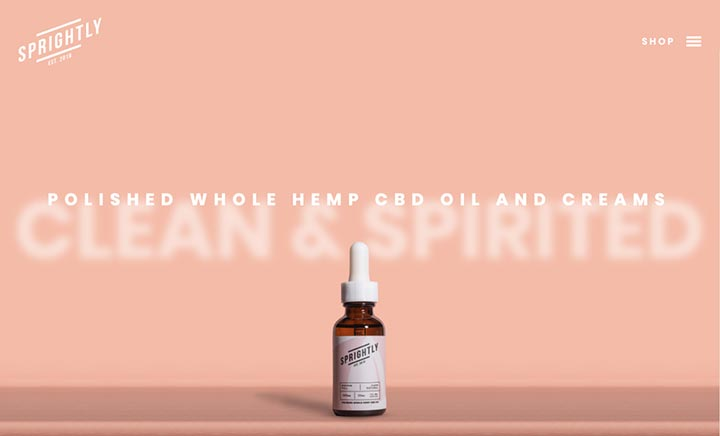 Sprightly CBD website