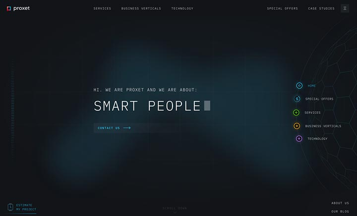 Proxet — Smart People website