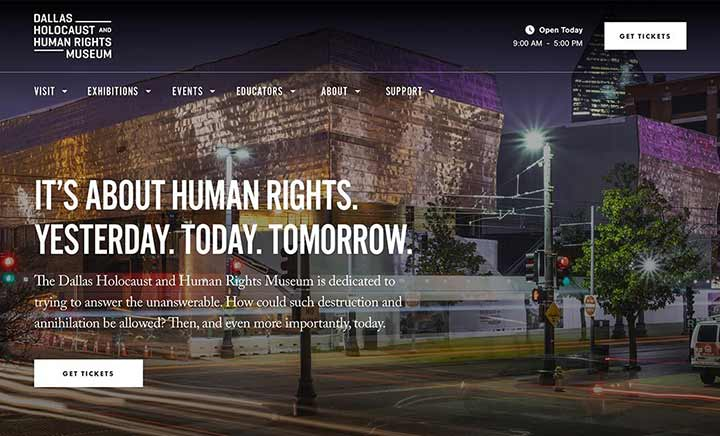 Dallas Holocaust & Human Rights  website