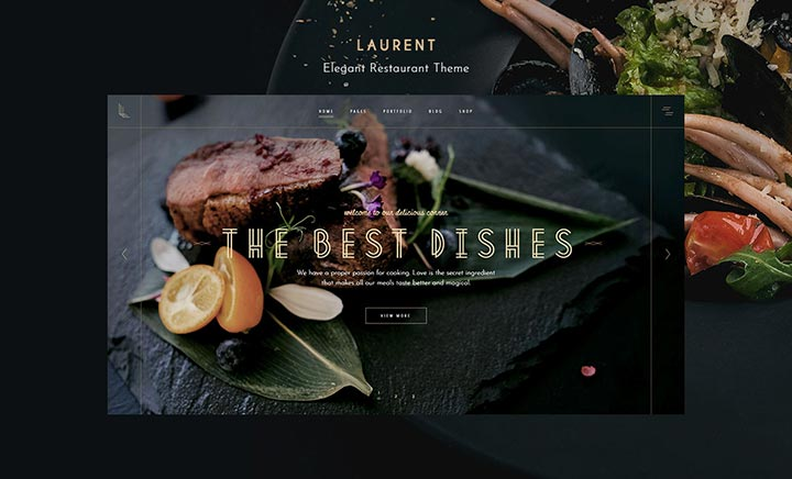 Laurent – Elegant Restaurant website