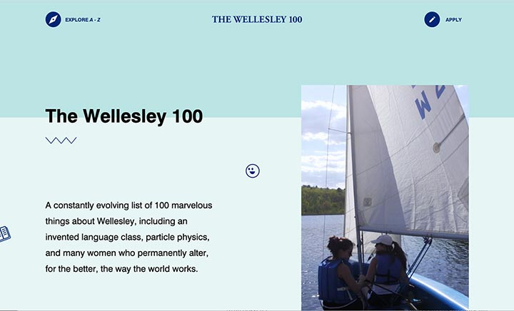 Wellesley 100 website