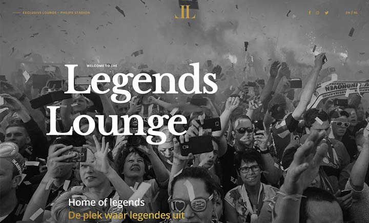 PSV Eindhoven Legends Lounge website