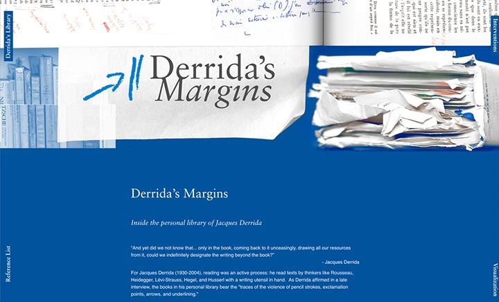 Derrida's Margins website